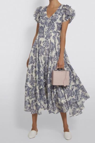 LoveShackFancy Andie Floral Midi Dress 3