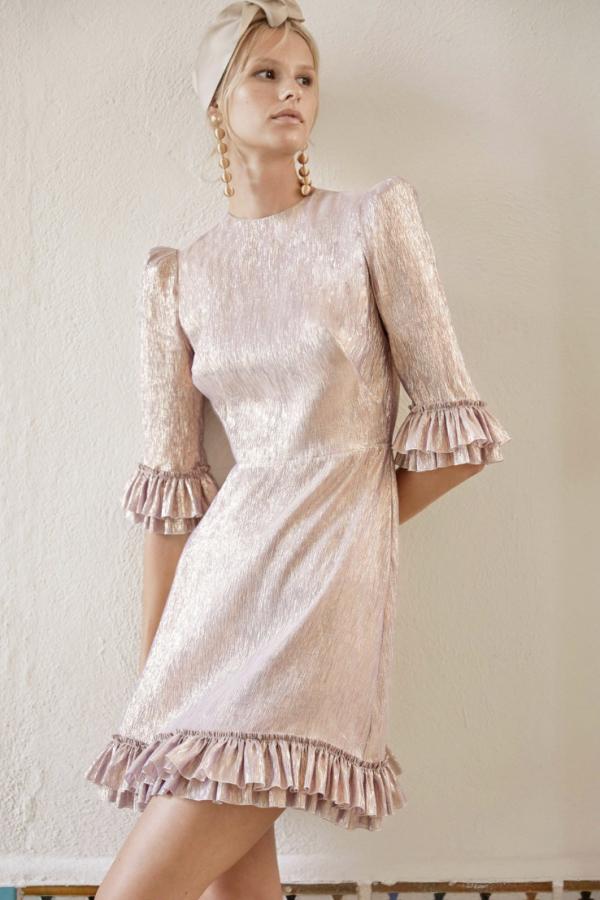 The Vampire's Wife Metallic Mini Dress 4