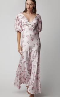 LoveShackFancy Lilia Cutout Floral-Print Silk Maxi  2 Preview Images