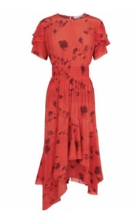 Preen by Thornton Bregazzi Esther printed satin dress 3 Preview Images