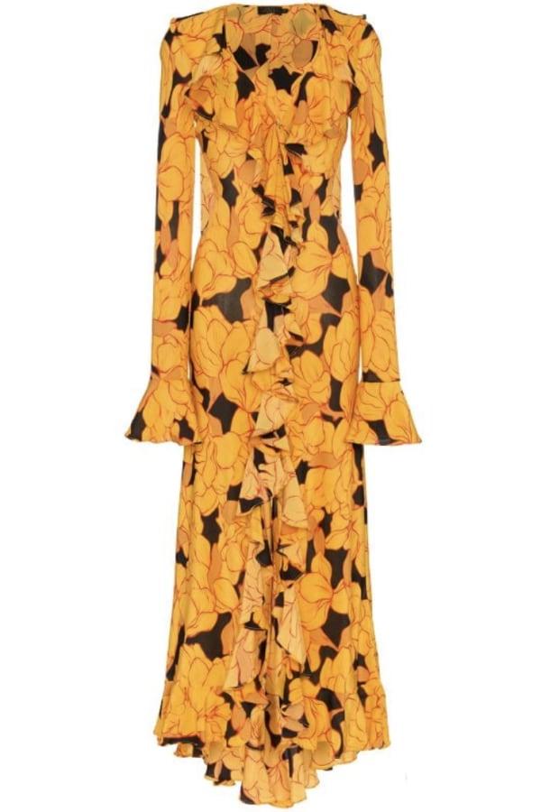 Image 1 of De La Vali floral ruffle dress