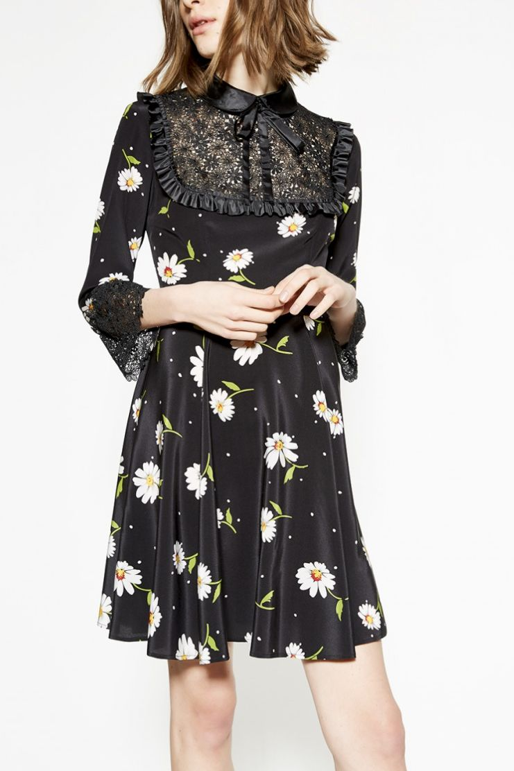 The Kooples Daisy Silk Mini Dress 2 Preview Images