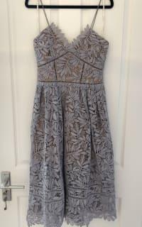 Self Portrait Lilac Midi Dress 2 Preview Images
