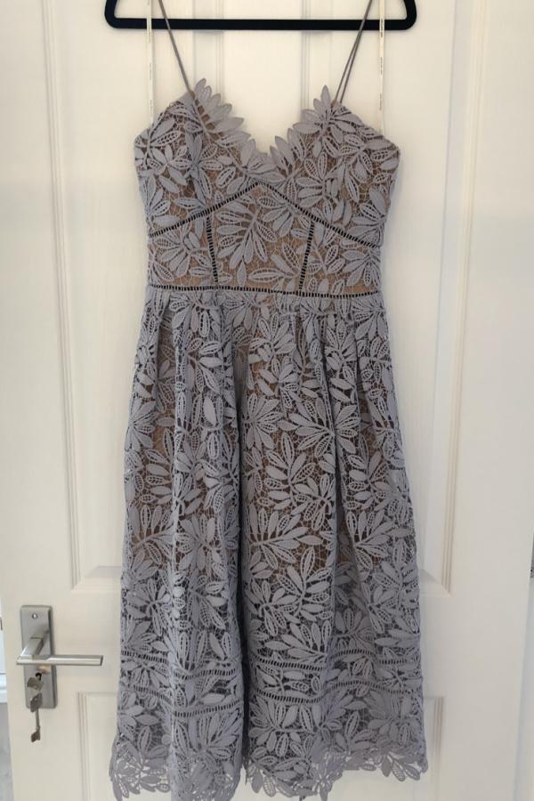Self Portrait Lilac Midi Dress 2