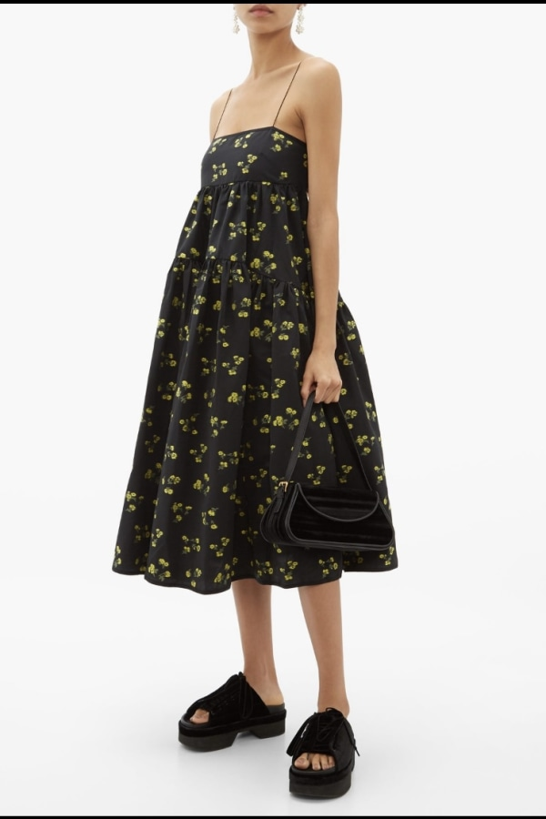 Image 1 of Cecilie Bahnsen sofie floral black yellow