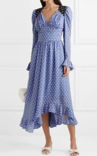 Stine Goya Freesia ruffled printed voile midi dress 2 Preview Images