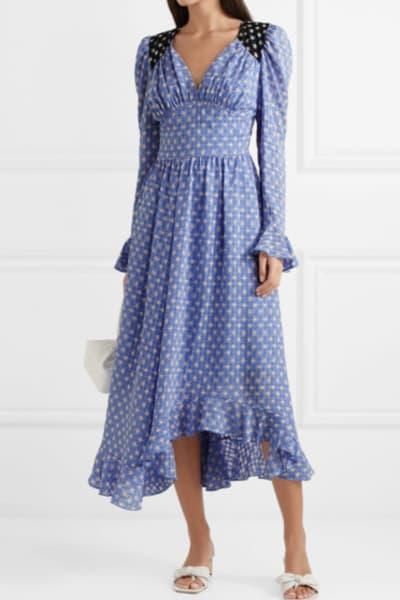 Stine Goya Freesia ruffled printed voile midi dress 2