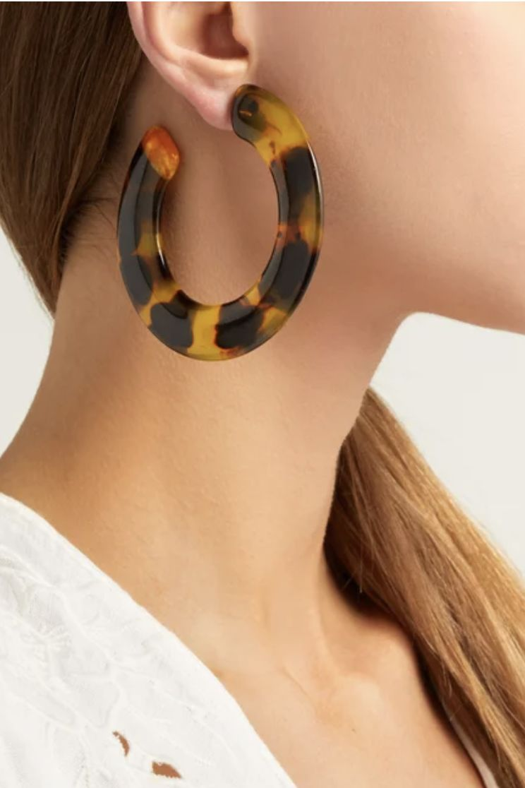 Cult Gaia Kennedy Hoop Tortoiseshell Earrings Preview Images