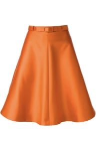 Carven Belted Orange Skirt  Preview Images