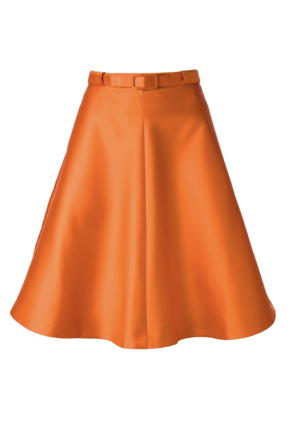Carven Belted Orange Skirt
