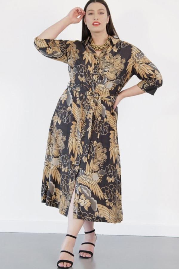 Image 2 of Anna Scholz silk shirt dress