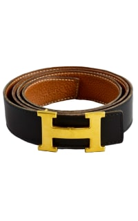 Hermès Black & Tan Constance Belt  3 Preview Images