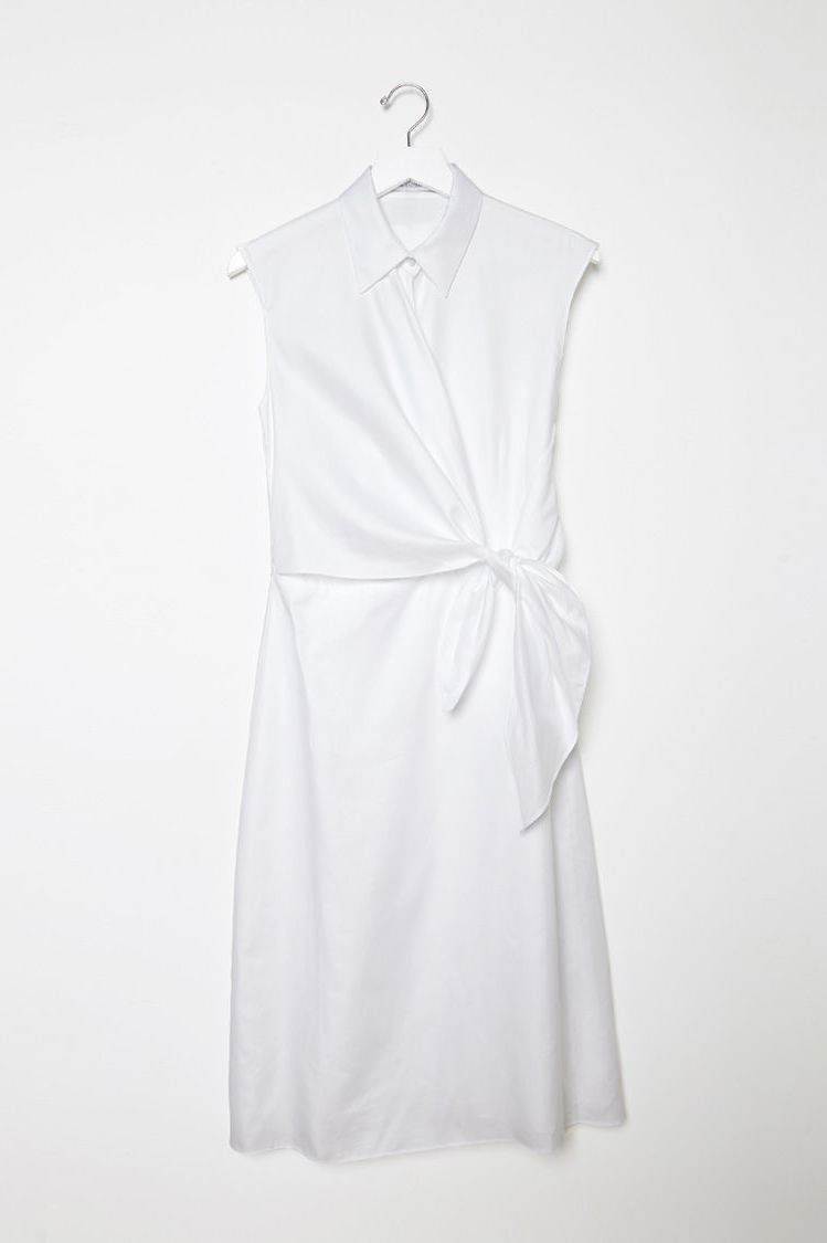 JW Anderson White Side Knot Shirt Dress 3 Preview Images