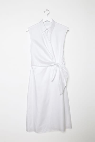 JW Anderson White Side Knot Shirt Dress 3