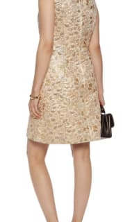 Dolce & Gabbana Metallic Embroidered Faille Dress  Preview Images