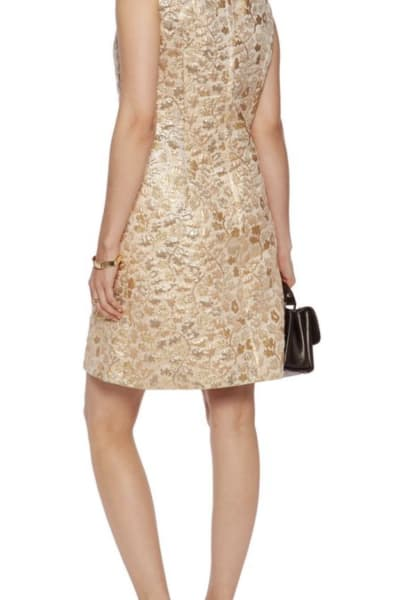 Dolce & Gabbana Metallic Embroidered Faille Dress