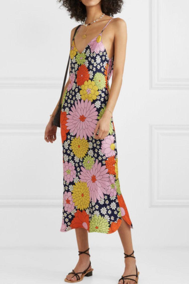 Dodo Bar Or Cora floral-print silk-jacquard dress 2 Preview Images
