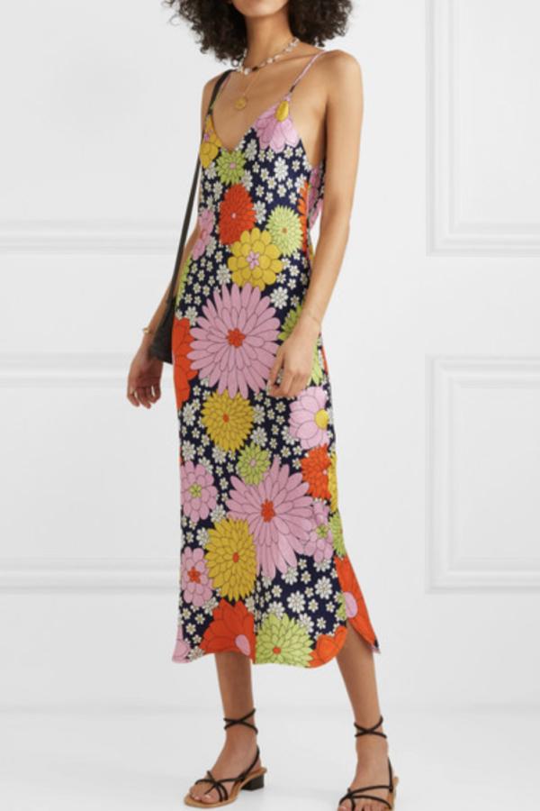 Dodo Bar Or Cora floral-print silk-jacquard dress 2