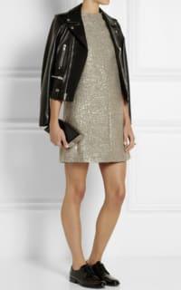 Saint Laurent Sequin metallic tweed dress 2 Preview Images