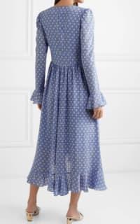 Stine Goya Freesia ruffled printed voile midi dress 3 Preview Images