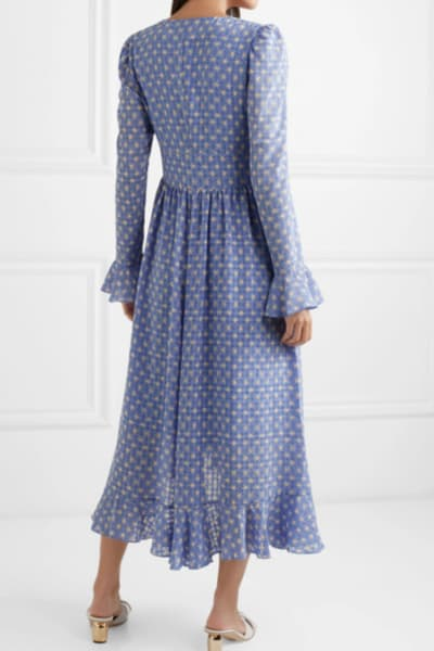 Stine Goya Freesia ruffled printed voile midi dress 3