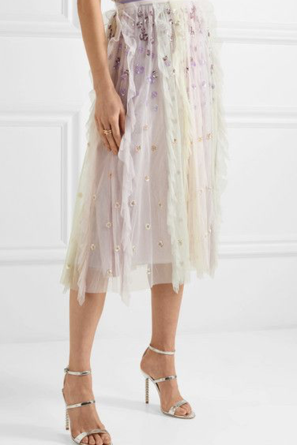Needle & Thread Rainbow midi skirt 2