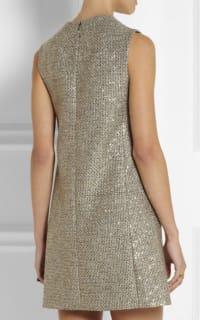 Saint Laurent Sequin metallic tweed dress 3 Preview Images