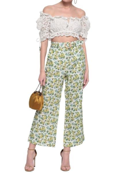 Zimmermann Floral Kick Flare Trouser 2