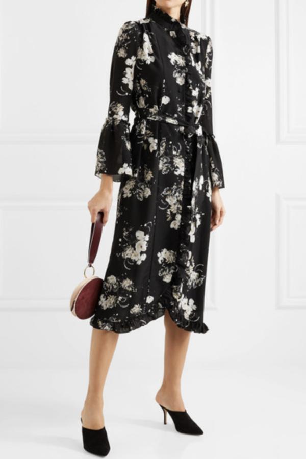 Erdem Siren floral midi dress 2