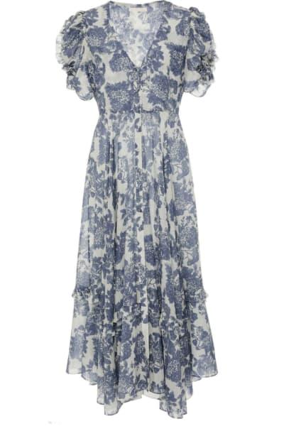 LoveShackFancy Andie Floral Midi Dress 2