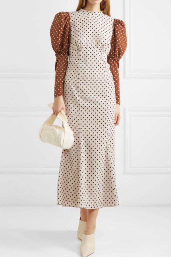 Rejina Pyo Sibylle draped two-tone Dress 2