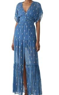 BA&SH MELA MAXI DRESS - BLUE Preview Images