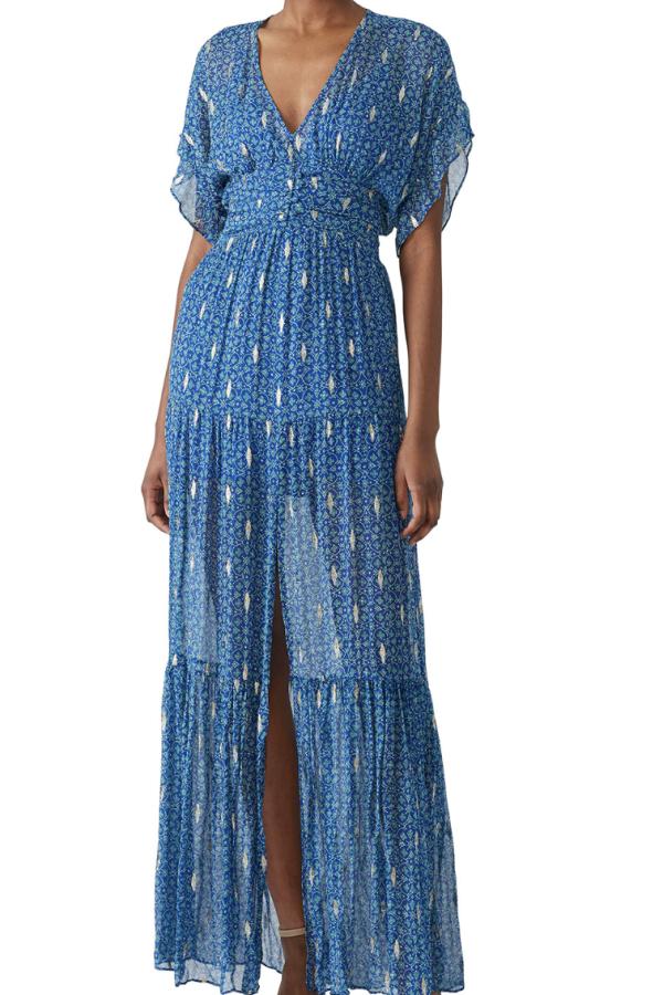 BA&SH MELA MAXI DRESS - BLUE