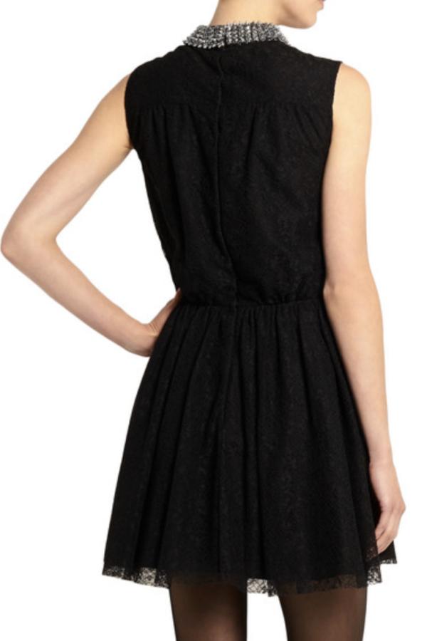 Saint Laurent Studded floral-lace mini dress 3