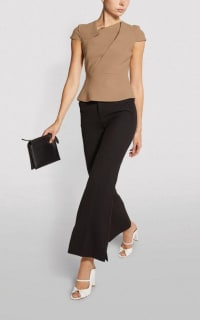 Roland Mouret Alanya Top in Caramel 3 Preview Images