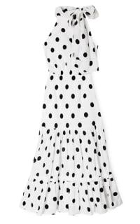 RIXO London Polka Dot Midi Dress Preview Images