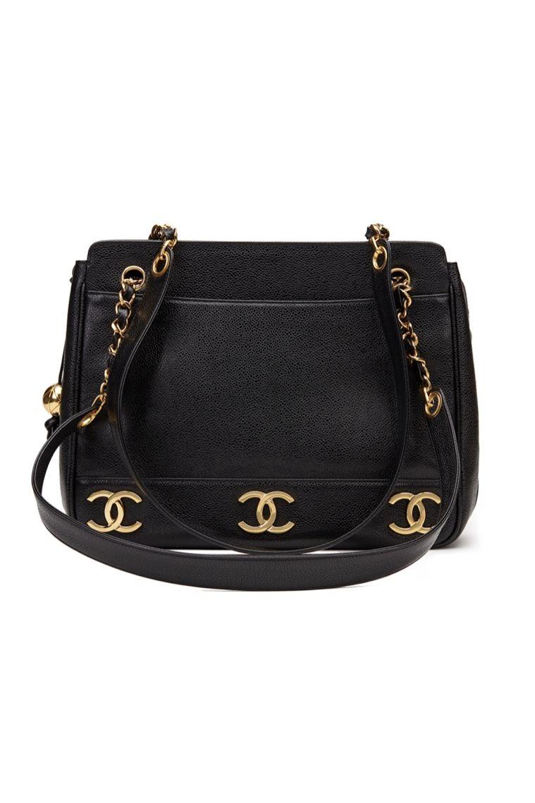 Chanel  Triple Logo Caviar Handbag  2 Preview Images