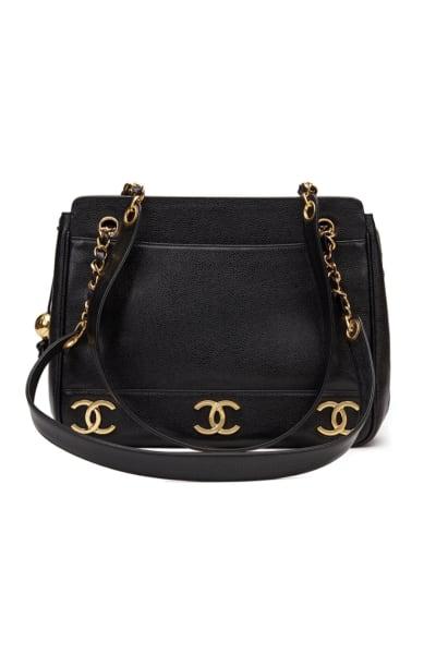 Chanel  Triple Logo Caviar Handbag  2