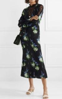 Les Rêveries Silk crepe midi dress 2 Preview Images