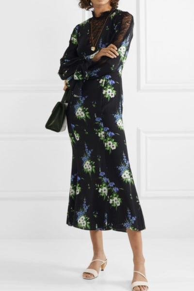 Les Rêveries Silk crepe midi dress 2