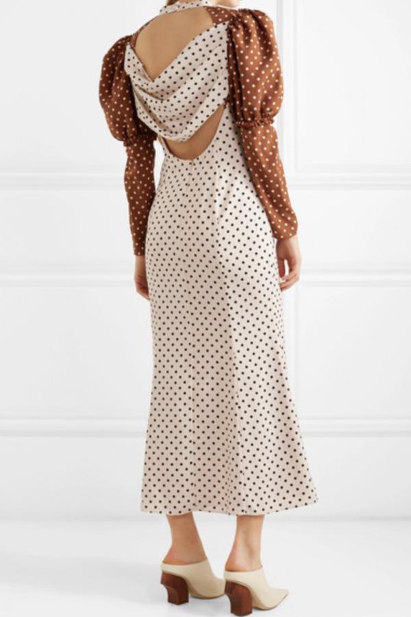 Rejina Pyo Sibylle draped two-tone Dress 3