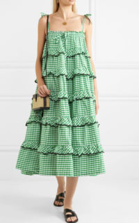 Innika Choo Tiered embroidered dress 2 Preview Images