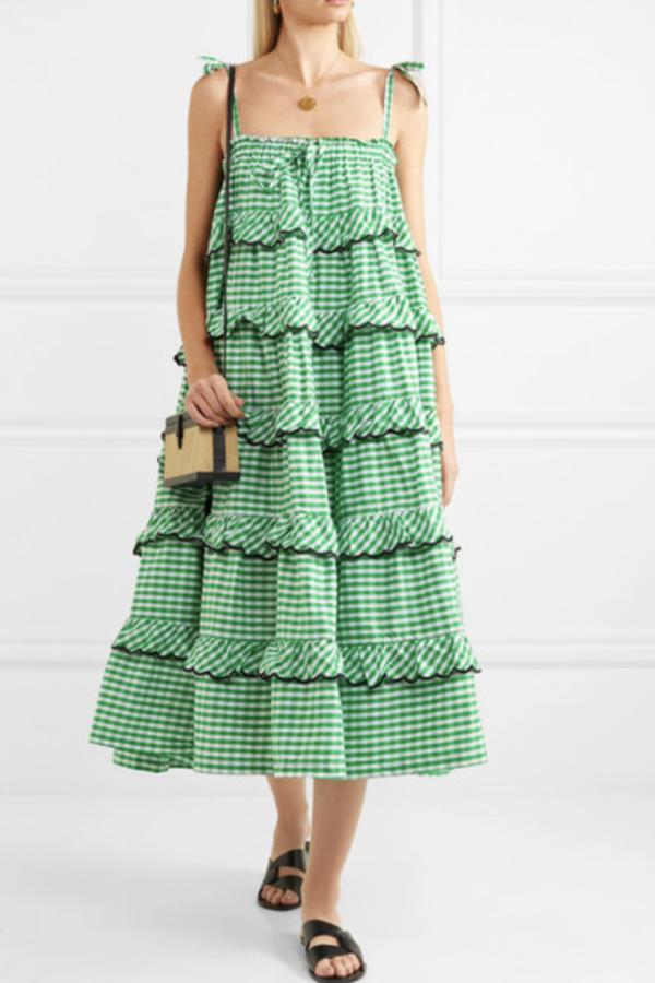 Innika Choo Tiered embroidered dress 2