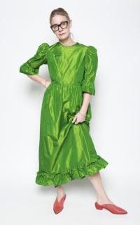 Batsheva Emerald Green Maxi Dress 5 Preview Images