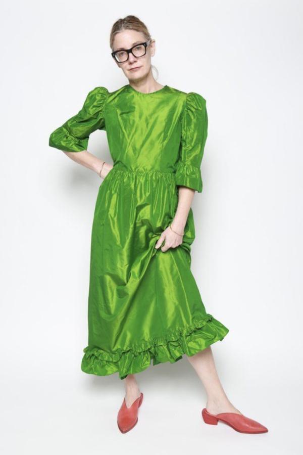 Batsheva Emerald Green Maxi Dress 5