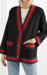 Gucci Grosgrain-trimmed cotton-blend tweed cardigan 3 Preview Images
