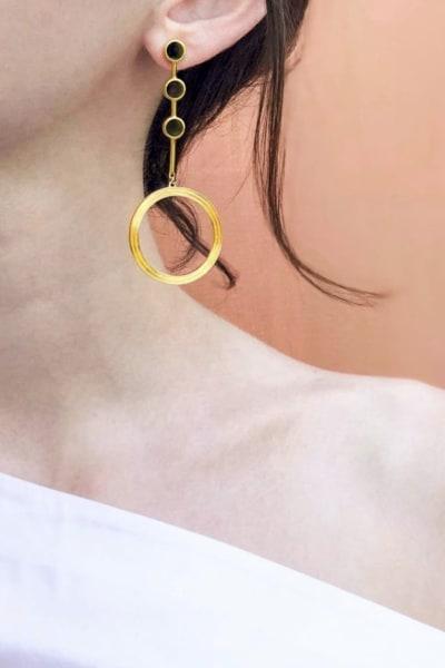 Kloto Asymmetric Drop Earrings 2