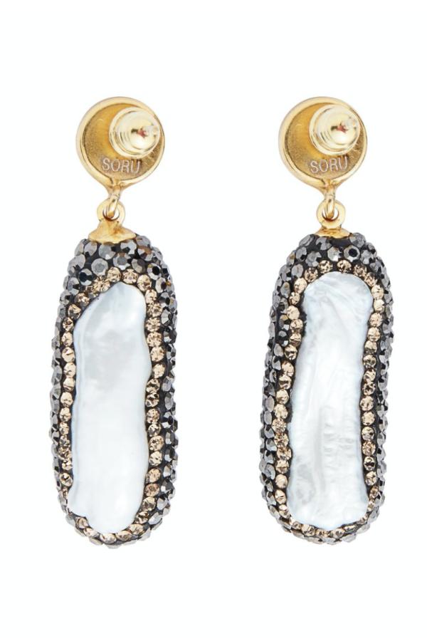 SORU Baroque Pearl Gold Earrings 4