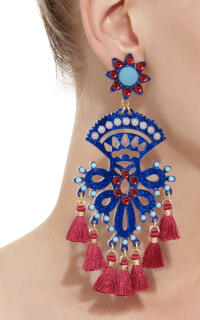 Mercedes Salazar Fiesta Blue And Red Earring 2 Preview Images