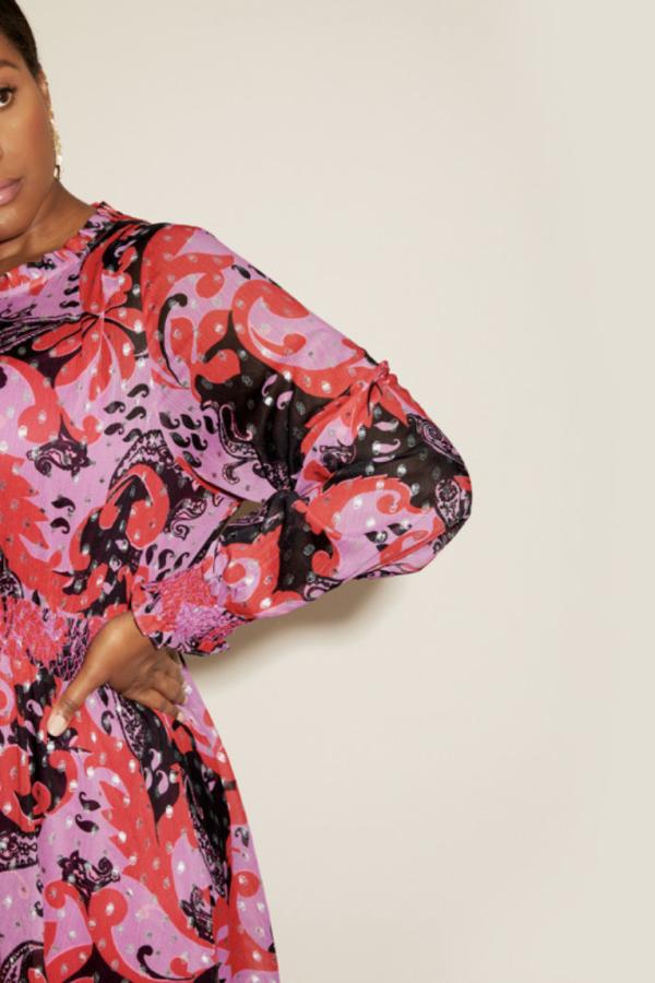 Anna Scholz Pink Polka Boho Dress 3